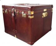 Leather Trunk with Straps