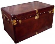 Brown Leather Trunk 90 x 55 x 50